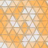 Triángulos simples modelo, fondo abstracto consistiendo en triángulos anaranjados y blancos libre illustration