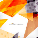 Triángulos traslapados brillantes modernos 3d Imagen de archivo