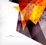 Triángulos traslapados brillantes modernos 3d Fotos de archivo libres de regalías