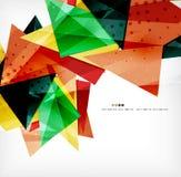 Triángulos traslapados brillantes modernos 3d Imágenes de archivo libres de regalías