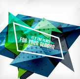 Triángulos traslapados brillantes modernos 3d Fotografía de archivo libre de regalías