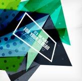 Triángulos traslapados brillantes modernos 3d Foto de archivo libre de regalías