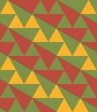 Triángulos verdes retros de la diagonal del marrón amarillo 3D Fotos de archivo libres de regalías