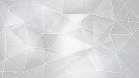 Triángulos y líneas blancos abstractos fondo ilustración del vector