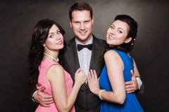 Triângulo amoroso ou amizade Fotos de Stock Royalty Free