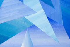 Triângulo azul Imagens de Stock Royalty Free