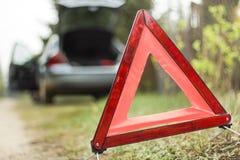 Triângulo de advertência Imagens de Stock