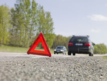 Triângulo de advertência Foto de Stock
