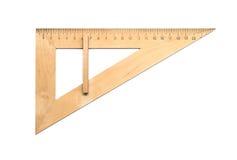 Triângulo de madeira Fotos de Stock