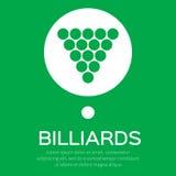 Triângulo do ícone das bolas do bilhar/associação Fotografia de Stock