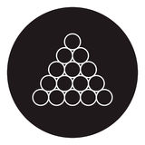Triângulo do ícone das bolas do bilhar/associação Foto de Stock Royalty Free