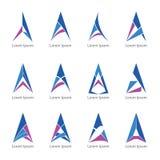 Triângulo a do logotipo Fotografia de Stock