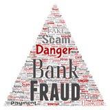 Triângulo do perigo do embuste do pagamento da fraude do banco do vetor Foto de Stock Royalty Free