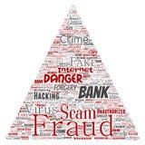 Triângulo do perigo do embuste do pagamento da fraude do banco do vetor Foto de Stock