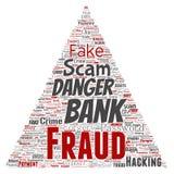 Triângulo do perigo do embuste do pagamento da fraude do banco do vetor Fotografia de Stock