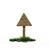 Triângulo do sinal de estrada Ilustração Royalty Free