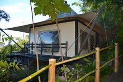Triângulo dourado do acampamento Tented de quatro estações Foto de Stock Royalty Free
