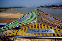 Triângulo dourado: Tailândia, Myanmar e Laos Fotografia de Stock Royalty Free