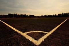 Triângulo fantástico no campo de futebol Fotografia de Stock Royalty Free