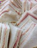 Triângulo Ham Sandwiches Imagem de Stock Royalty Free