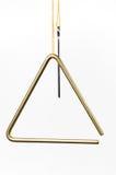 Triângulo isolado no branco Fotografia de Stock