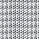 Triângulo preto e de prata da máscara listrado com às bolinhas e diago Foto de Stock