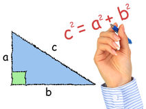 Triângulo Right-angle. Fotos de Stock Royalty Free