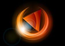 Triângulo vermelho Fotografia de Stock