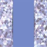 Triângulos abstratos do mosaico Imagens de Stock