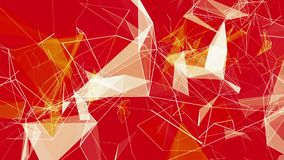 Triângulos abstratos nas cores brancas e amarelas no vermelho ilustração royalty free