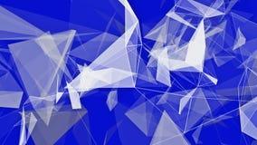 Triângulos abstratos no branco no azul ilustração do vetor