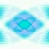 Triângulos azuis e brancos brilhantes e fundo sem emenda abstrato do rombo Repetindo o teste padrão geométrico Imagens de Stock Royalty Free