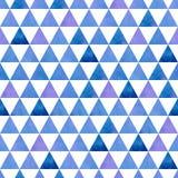 Triângulos azuis e roxos em um fundo branco Foto de Stock Royalty Free