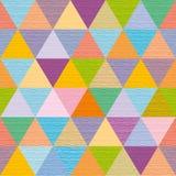 Triângulos coloridos abstratos decorativos, fundo, ilustração Fotografia de Stock