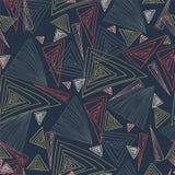 Triângulos coloridos Desenho da mão Textura sem emenda Imagens de Stock Royalty Free