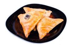 Triângulos com carne Imagem de Stock Royalty Free