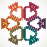 Triângulos criativos com lugar para seu próprio texto Fotografia de Stock Royalty Free