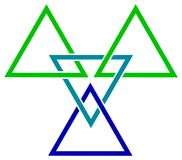 Triângulos da trança ilustração royalty free