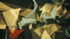 Triângulos de flutuação abstratos no marrom na cor verde ilustração do vetor