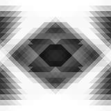 Triângulos do Grayscale e fundo sem emenda geométrico da abstração do rombo Foto de Stock Royalty Free