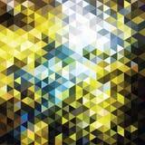 Triângulos do mosaico da cor Foto de Stock