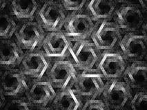 Triângulos e hexágonos Fotos de Stock