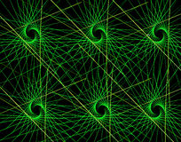 Triângulos e raios coloridos do Fractal ilustração stock