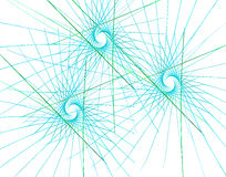 Triângulos e raios coloridos do Fractal ilustração do vetor