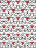 Triângulos e teste padrão abstrato das espirais fotografia de stock
