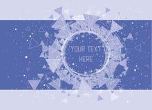Triângulos, estrelas e fundo do teste padrão do círculo Imagens de Stock