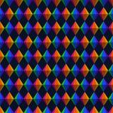 Triângulos geométricos de Festa Junina e teste padrão sem emenda dos diamantes ilustração stock