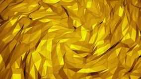 Triângulos móveis em cores amarelas ilustração do vetor
