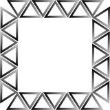 Triângulos preto e branco Fotos de Stock