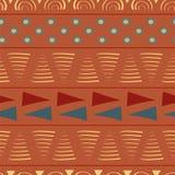 Triângulos tribais vibrantes e círculos ilustração royalty free